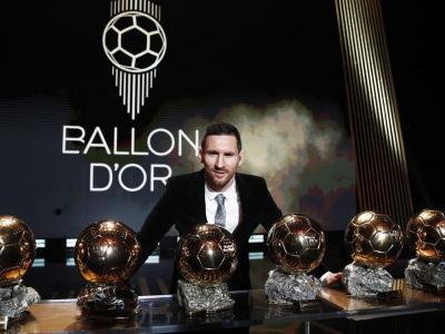 Messi, amb les sis Pilotes d'Or