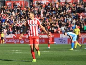 Stuani, en una imatge habitual: celebrant un gol amb la samarreta del Girona