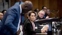 San Suu Kyi, ahir, a la sala del Tribunal Internacional de Justícia de la Haia