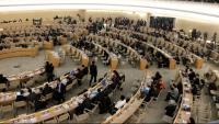 Pla general de la 37a sessió del Consell de Drets Humans de l'ONU que es va celebrar a Ginebra el 20 de març del 2018