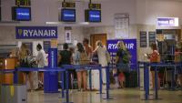 Mostrador de Ryanair a l'aeroport de Girona
