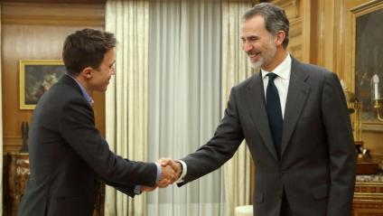 Felip VI <i> rebia ahir a La Zarzuela per primer cop Íñigo Errejón (Més País)</i>