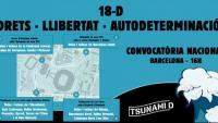 El cartell de la convocatòria de Tsunami Democràtic pel Barça-Madrid del 18 de desembre