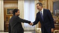 Felip VI rep Asens en el marc de la ronda de consultes per a la investidura
