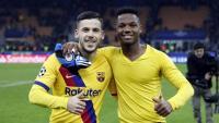 Carles Pérez i Ansu Fati, els grans protagonistes del partit contra l'Inter a Milà