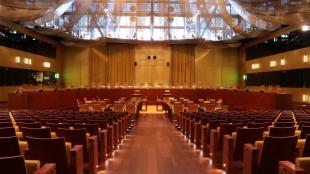 Imatge de la sala gran del Tribunal de Justícia de la Unió Europea