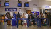 L'aeroport de Girona durant una vaga de la tripulació de Ryanair, a principis de setembre