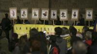 Concentració de suport als detinguts el 23-S a Sabadell un mes després