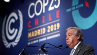 El secretari general de la ONU a la COP25 que se celebra a Madrid