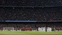 El Camp Nou ple durant un clàssic Barça-Madrid en una imatge d'arxiu