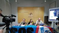 Eduard de Ribot, Neus Giró i Sergi Nuss, durant la presentació de la campanya d'al·legacions al pla director de la Costa Brava