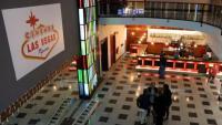 El vestíbul del cinema Las Vegas de Figueres, en una imatge de l'abril del 2018