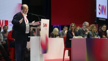 Iceta presentava ahir al vespre en el ple del congrés l'informe de gestió, del qual va exposar la part política