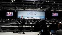 Vista general durant la reunió de la COP25 , celebrada ahir a Madrid