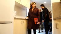 L'alcaldessa de Barcelona, Ada Colau, visita l'espai