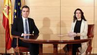 La líder de Cs, Inés Arrimadas, i el president espanyol en funcions, Pedro Sámchez