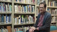Eduard Ibáñez, doctor en dret penal i llicenciat en filosofia, a la seu de Justícia i Pau de Barcelona