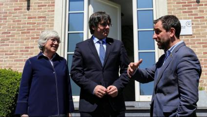 Ponsatí, Puigdemont i Comínen una imatge d'arxiu a Waterloo