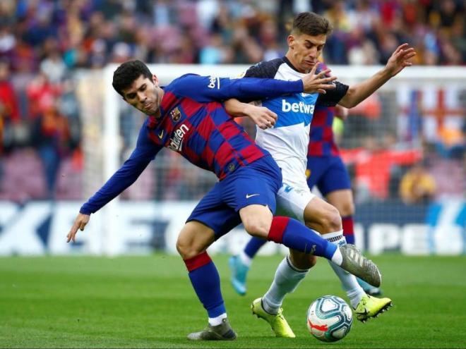 Carles Aleñá i Riqui Puig, dos futbolistes del planter que la temporada vinent podrien formar part de la plantilla del primer equip del Barça