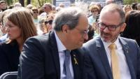 Quim Torra i Josep Costa en un acte d'Òmnium
