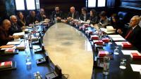 Els membres de la Mesa del Parlament reunits el passat 14 de gener