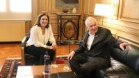L'alcaldessa, Ada Colau, i el president del grup municipal d'ERC, Ernest Maragall