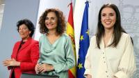 Celaá, Montero i Montero a la roda de premsa després del Consell de Ministres