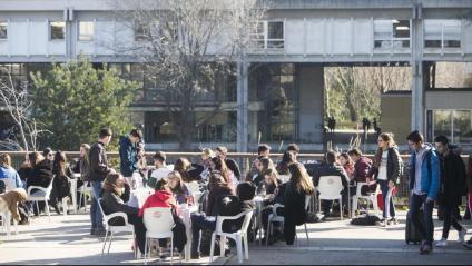 Estudiants a la UAB, divendres passat