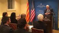 Acte de reobertura de la delegació exterior als Estats Units, el setembre del 2018, amb Ernest Maragall a Exteriors