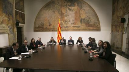 PSC, JxCat, govern, ERC i Catalunya en Comú, en la reunió d'ahir