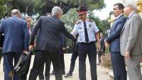 El major Josep Lluís Trapero, l'exdirector dels Mossos Pere Soler i l'ex-secretari general d'Interior Cèsar Puig, en la junta de seguretat del 2017