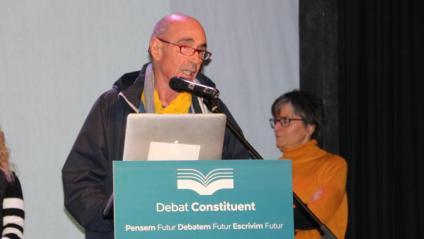 Lluís Llach, durant la jornada del Debat Constituent, al Poblenou