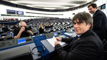 Carles Puigdemont, el primer dia que va exercir d'eurodiputat al ple d'Estrasburg