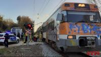 Imatge del tren accidentat prop de Tordera