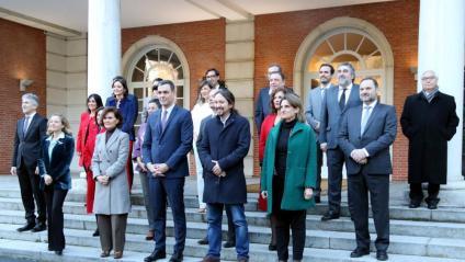 El nou executiu de coalició entre el PSOE i Unides Podem