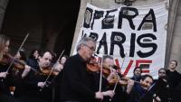 Concert protesta de l'Òpera de París contra la reforma de les pensions, ahir, a la capital