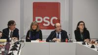 Illa, Marín, Iceta i Granados en una reunió del PSC