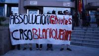 Concentració de suport als assaltants de Blanquerna a les portes del jutjat