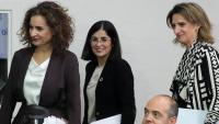 Les ministres Montero, Ribera i Darias abans de la roda de premsa