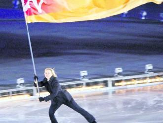 Una imatge de la cerimònia d'inauguració de Salt Lake City 2002.