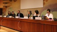 Les entitats a favor dels drets humans, en l'acte d'ahir a Ginebra