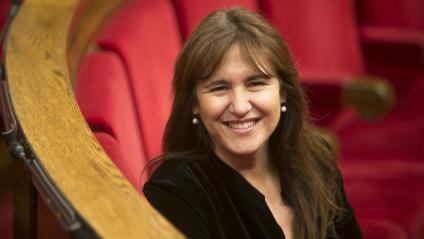 Laura Borràs, aquesta setmana, asseguda a l'escó que ocupava quan era diputada al Parlament Laura Borràs, aquesta setmana, asseguda a l'escó que ocupava quan era diputada al Parlament
