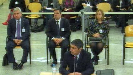 El major Josep Lluís Trapero, a l'Audiència Nacional.
