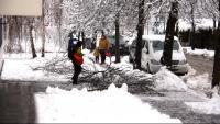 Un dels carrers de la Seu d'Urgell, totalment nevat