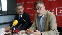 El president de la Fundació puntCAT, Carles Salvadó, i l'advocat Andreu Van den Eynde