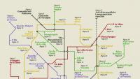 El sumari del programa, que simula un mapa del metro