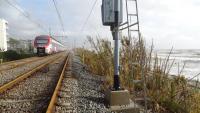 R1 circulant entre Vilassar de Mar i Mataró per via única