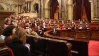 L'hemicicle del Parlament un dia de ple