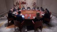 El president i els consellers a la reunió setmanal del Govern