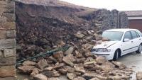 Esfondrament d'un mur del castell de les Piles